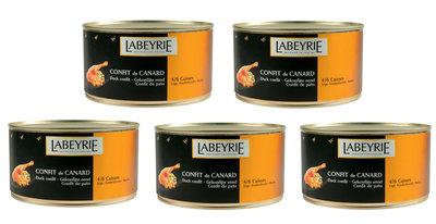 Actie 5 blikken Labeyrie Confit de Canard 5/6 Bouten per Blik